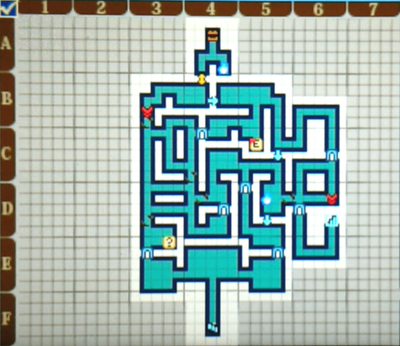 【世界樹の迷宮X(クロス)】第二迷宮「碧照ノ樹海 B1F」/マップ【SQX攻略ブログ】