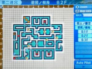 【世界樹の迷宮X(クロス)】第二迷宮「碧照ノ樹海 B2F」/マップ【SQX攻略ブログ】