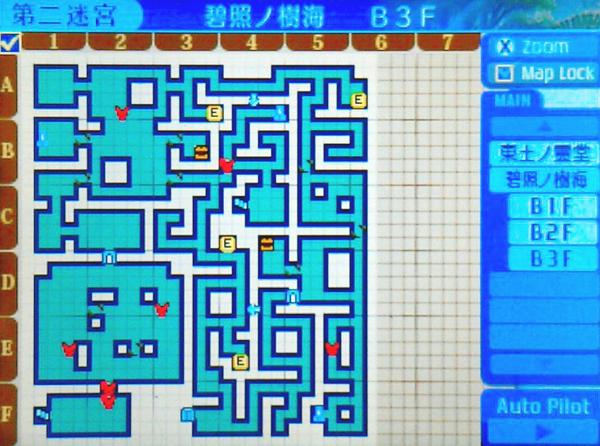 【世界樹の迷宮X(クロス)】第二迷宮「碧照ノ樹海 B3F」/マップ・地図・ボス情報【SQX攻略ブログ】