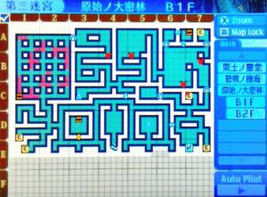 【世界樹の迷宮X(クロス)】第三迷宮「原始ノ大密林 B1F」/マップ・地図・FOE【SQX攻略ブログ】
