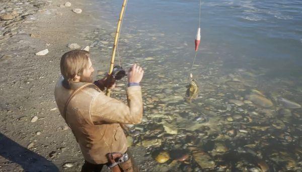 【レッドデッドリデンプション2 攻略】「釣り」ってどうやったらできるの?釣り竿の入手方法は…【RDR2】