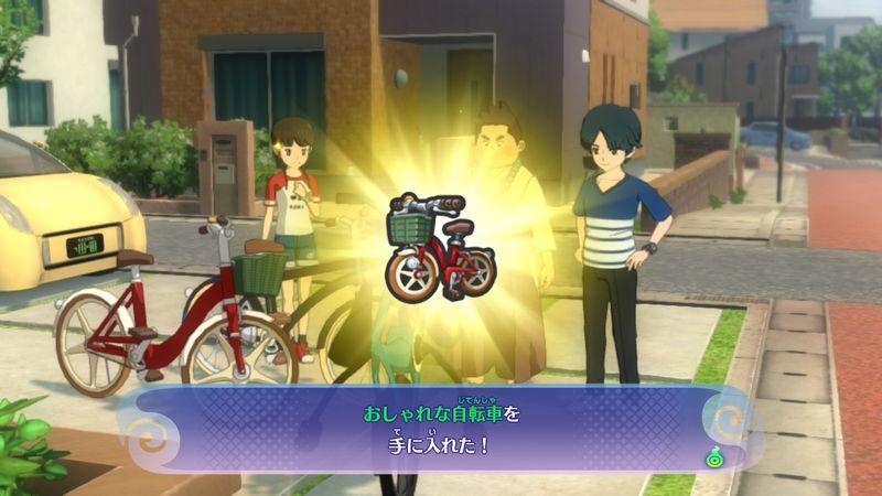 【妖怪ウォッチ4】攻略プレイ日記2/第2章!妖怪ガシャをまわすと…!ヨロズマートの場所!自転車入手!ジンゲキ怖すぎ!