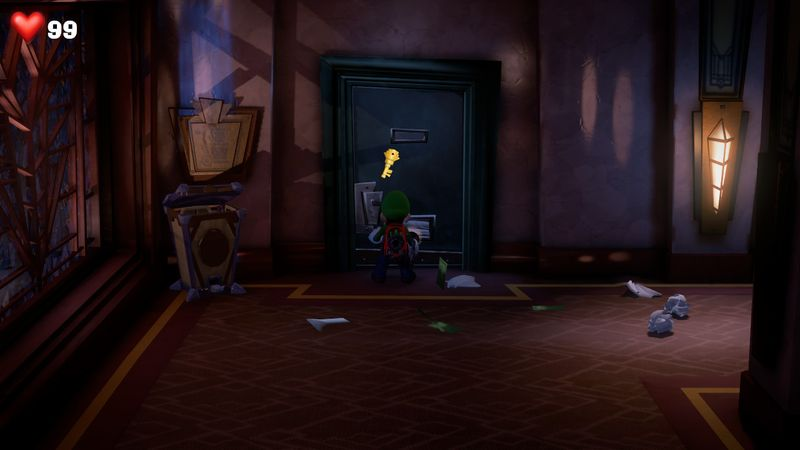 【ルイージマンション3 攻略】2階の扉の鍵の場所!入手方法・ダークライト入手まで