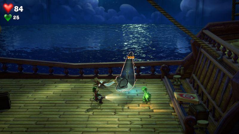 【ルイージマンション3 攻略】12階ビーチレストランフロア・サメのフック船長ボスオバケ「キャプテンフッカ」倒し方