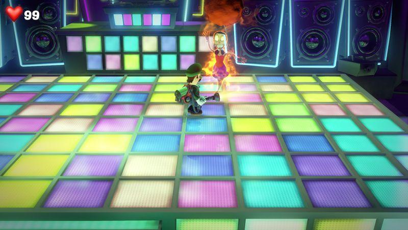 【ルイージマンション3 攻略】14階ディスコフロア・ダンサーのオバケ&DJのボスオバケ「アフロディージェ」の倒し方