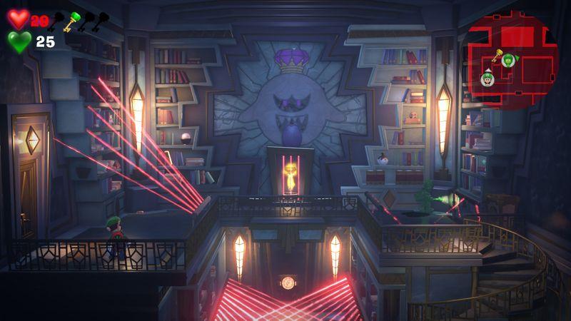 【ルイージマンション3 攻略】15階ペントハウス・ボスオバケ「パウダネス・コナー」倒し方・レーザー回避・解除方法