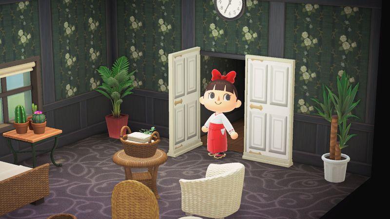 【あつ森】シンプルなパネル用マイデザイン『白い扉』/作品ID【Animal Crossing Designs/White door】