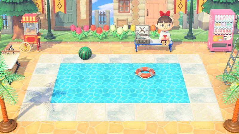 【あつ森マイデザイン】『水面』(プール・水路)/作品ID【Animal Crossing Designs/Water surface】