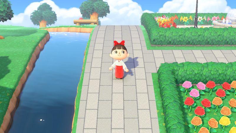 【あつ森】和風マイデザイン『神社の境内の道』/作品ID【Animal Crossing Designs】