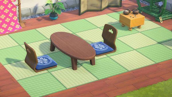 【あつ森】マイデザイン『琉球畳』(縁なし畳・1マス畳)/作品ID【Animal Crossing Designs/Ryukyu tatami mat】